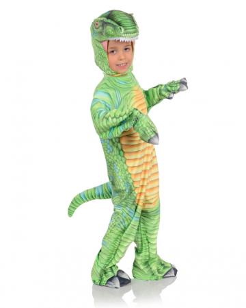 Printed T-Rex Toddler Costume Green