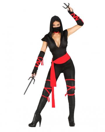 Black Ninja Warrior Lady Kostüm
