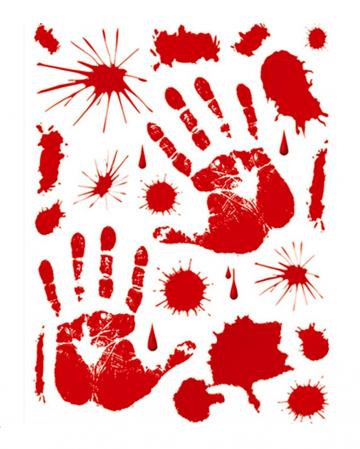 Blutige Hände & Blood Splatter Fenstersticker
