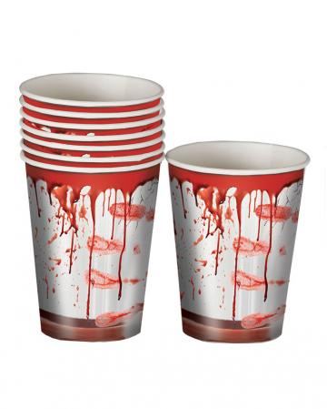 Blutige Party Pappbecher 8 Stück