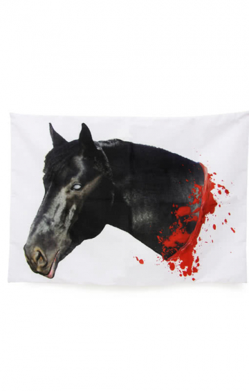 Bloody horses pillowcase