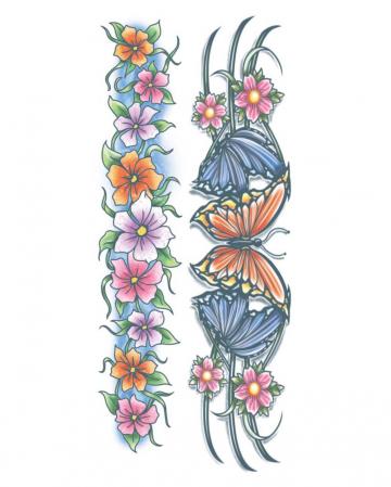 Body Bands Glue Tattoo Flowers
