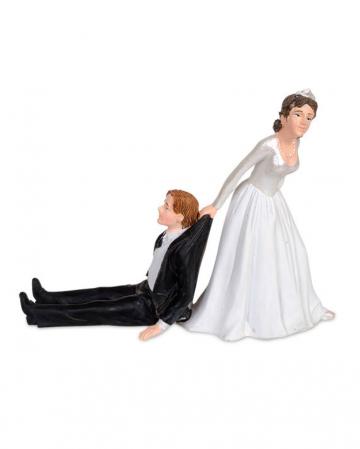 Lustiges Brautpaar für Hochzeitstorte