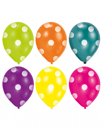 Colorful Dots Balloons 6 Pc.