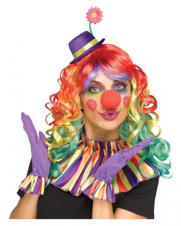 Buntes Clown Zubehör Set