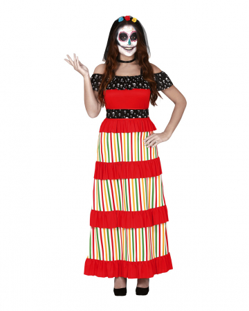 Colorful Dia De Los Muertos Ladies Costume