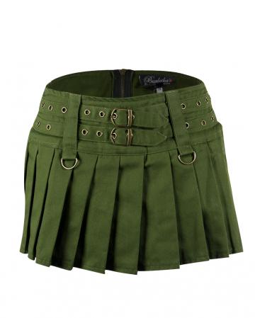 Burleska Mini Skirt Lucy Olive