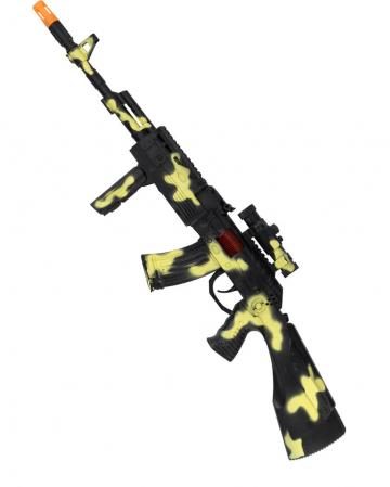 Camouflage Machine Gun