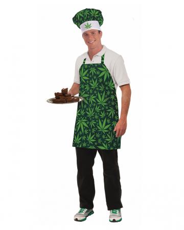 Cannabis Koch Set mit Schürze & Mütze