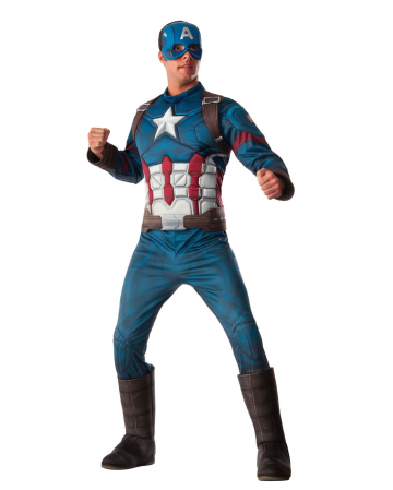 Captain America 3D Muscle Costume