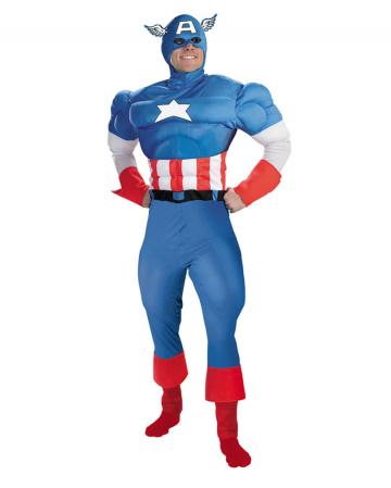 Captain America Muskel Kostüm Deluxe