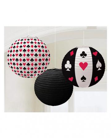 Casino Lampions 3 Stk.