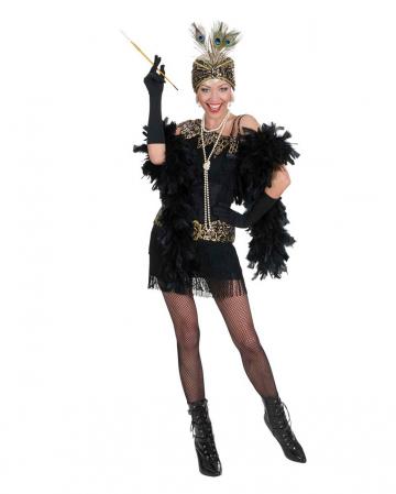 Charleston dress black and gold