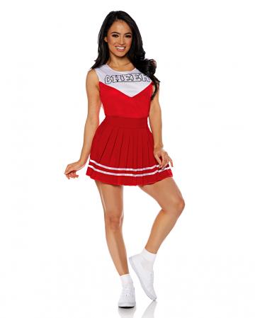 Cheerleader Ladies Costume red