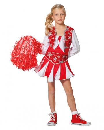 Cheerleader Kinderkostüm rot