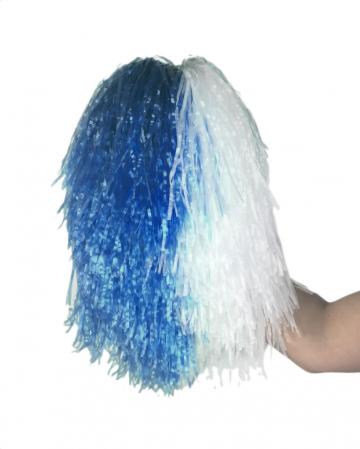 Cheerleader pompom blue-white