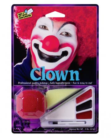 Clown Make-up Kit mit Nase