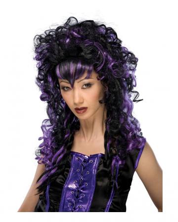 Cosplay Vamp Wig black violet