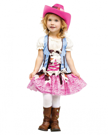 Cowgirl Kids Costume With Cowboy Hat