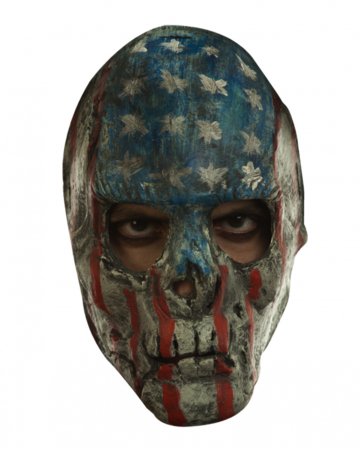 Creepy Patriotic Skull Full Head Mask