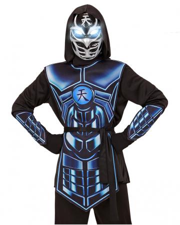 Cyber Ninja Kinderkostüm mit leuchtenden Augen