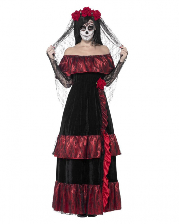 Day Of The Dead Bride Costume With Veil