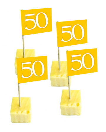 Deco Picker Number 50 gold 50 St.