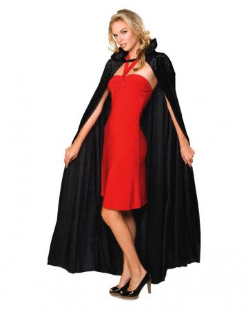Dracula Cape Black Crush Velvet
