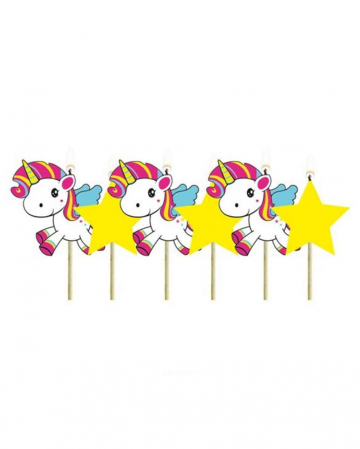 Unicorn Cake Candles 6 pcs.