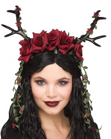 Fantasy Deer Antlers With Roses