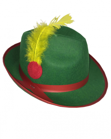 Carnival Tyrolean hat with feather