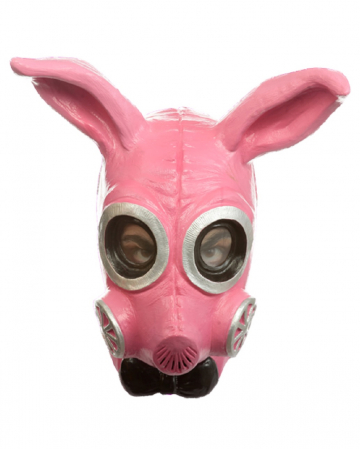 Fetisch Bunny Gas Maske pink