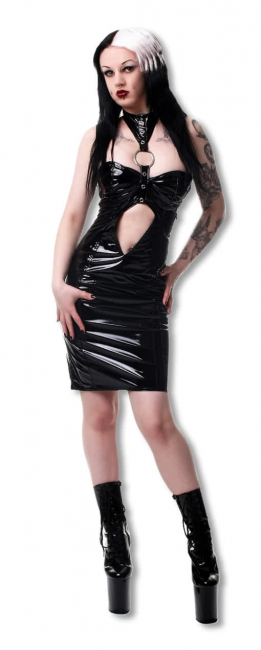 Lacquer fetish dress