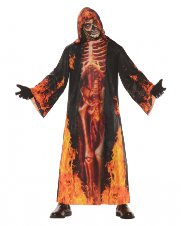 Flames skeleton robe