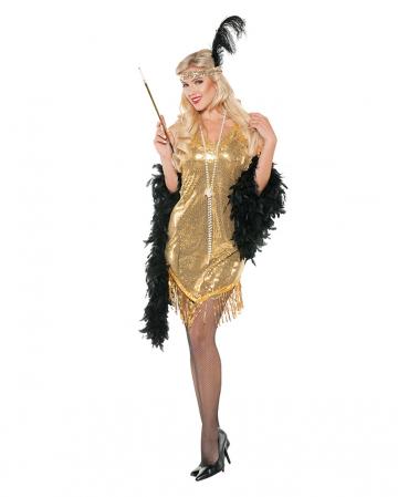 Flapper Paillettenkleid gold