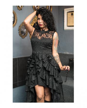 Bat Frill Dress With Lace