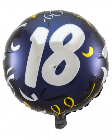 Folienballon 18 schwarz-gold 45cm