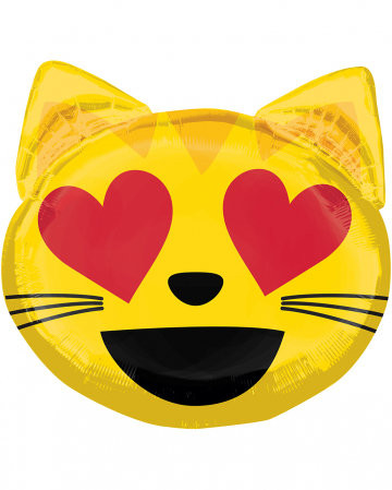 Folienballon Emoji verliebte Katze 55cm
