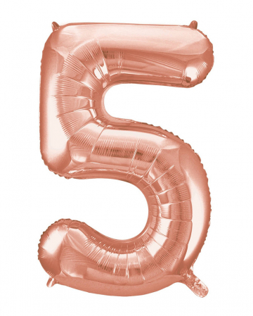 Foil Balloon Number 5 Rose Gold