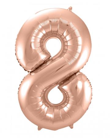 Foil Balloon Number 8 Rose Gold
