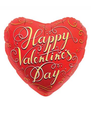 Roter Folienballon Happy Valentines Day