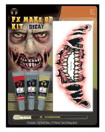 FX Make Up Kit Demon With Adhesive Tattoo