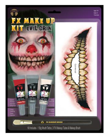 FX Make Up Kit Evil Grin mit Klebetattoo