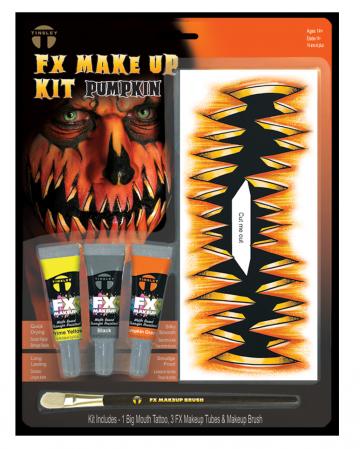 FX Make Up Kit Pumpkin With Adhesive Tattoo