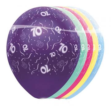Birthday Balloons 70th Anniversary 5 pcs