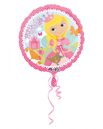 Folienballon Birthday Princess 43cm