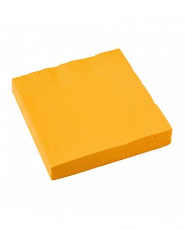 Yellow napkins 20 pcs