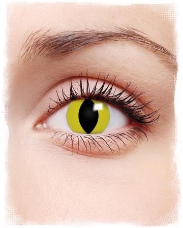 Kontaktlinsen gelbe Katzenaugen Motiv