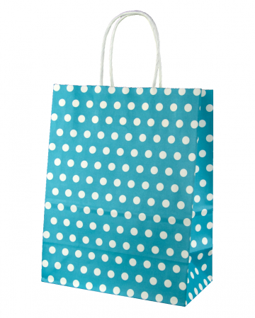 Gift Bag Turquoise Spotted Big