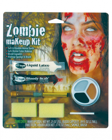 Zombie Girl Makeup Set